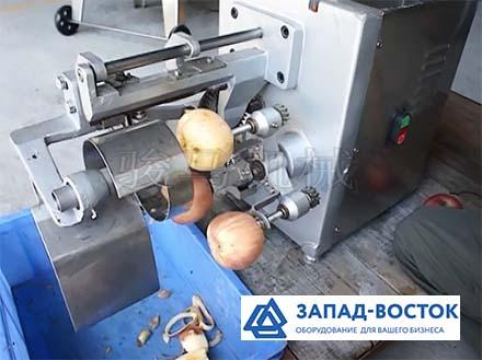 Полуавтоматическая машина для снятия кожуры (чистки), удаления сердцевины и нарезки яблок на четвертинки