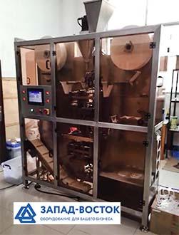 Автомат для упаковки чая в круглые фильтр пакеты с упаковкой во внешний пакет
